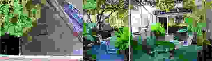 Terraza jardín con vivienda… de Verde Urbano Arquitectura