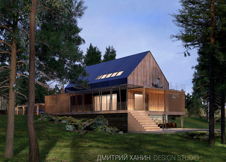 Houses by Dmitriy Khanin, Minimalist Wood Wood effect