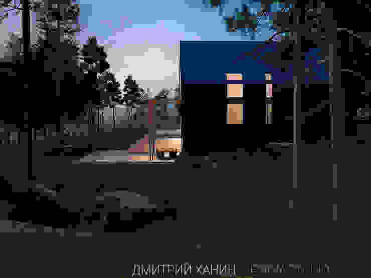 Minimalistyczne domy od Dmitriy Khanin Minimalistyczny Drewno O efekcie drewna