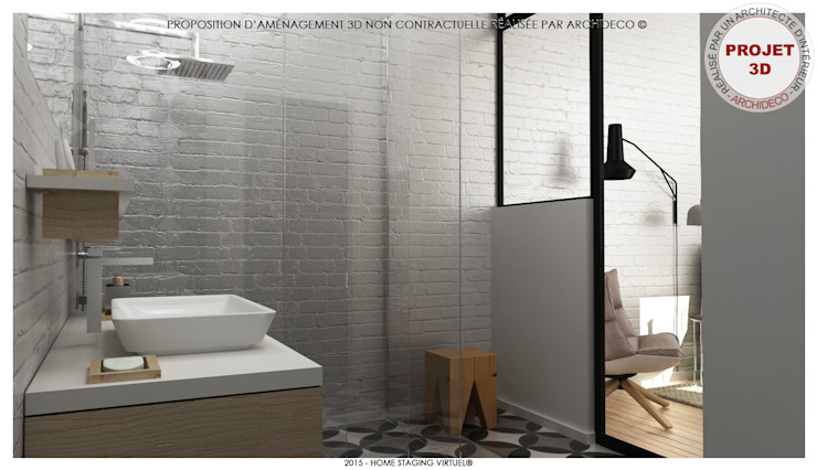 Modern style bathrooms by ArchiDeco Modern