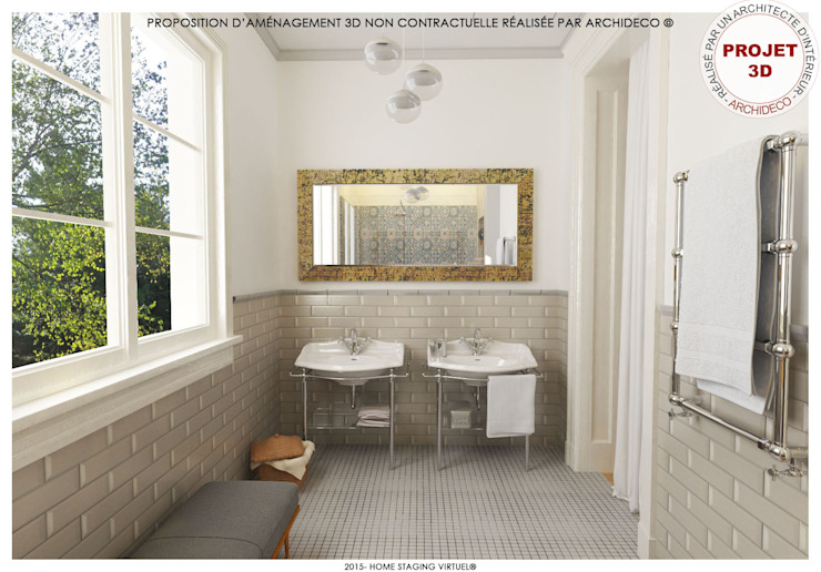 Mediterranean style bathrooms by ArchiDeco Mediterranean