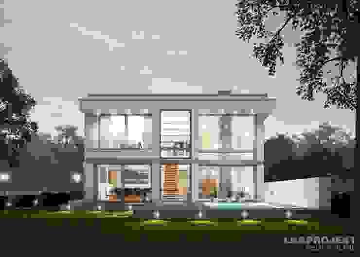 Ein schönes Haus mit Flachdach Moderne Häuser von LK&Projekt GmbH Modern