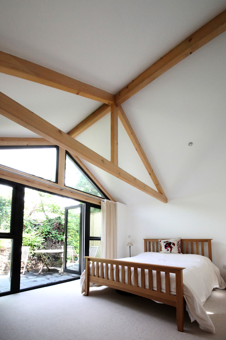Skyber Barn Innes Architects Rustic style bedroom