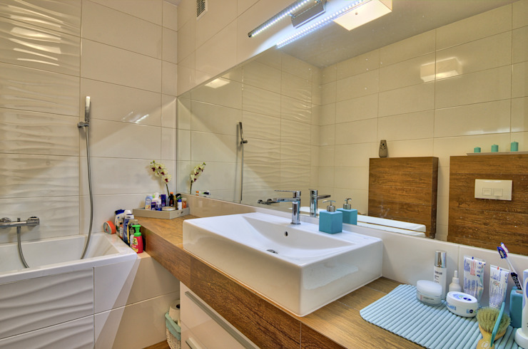 Moderne Badezimmer von Biuro Projektów MTM Styl - domywstylu.pl Modern