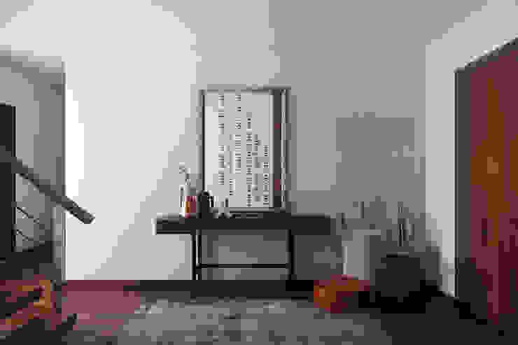 Nowoczesny korytarz, przedpokój i schody od DZINE & CO, Arquitectura e Design de Interiores Nowoczesny