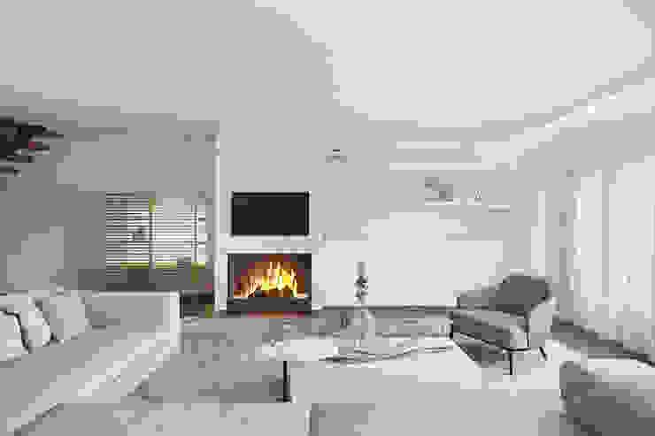 Modern Oturma Odası DZINE & CO, Arquitectura e Design de Interiores Modern