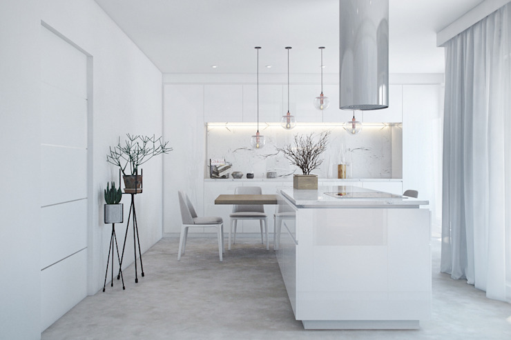 Modern kitchen by DZINE & CO, Arquitectura e Design de Interiores Modern