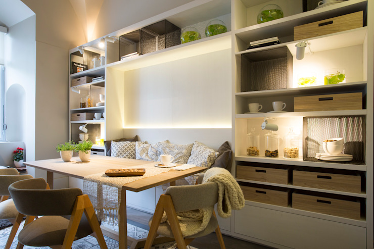 Salas de jantar modernas por Estudio de iluminación Giuliana Nieva Moderno