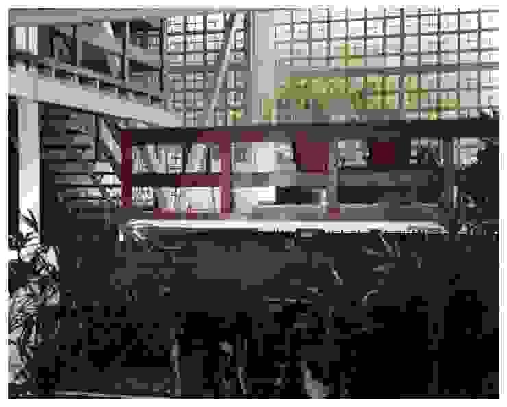 Jardín interno Jardines de estilo industrial de R+P Industrial
