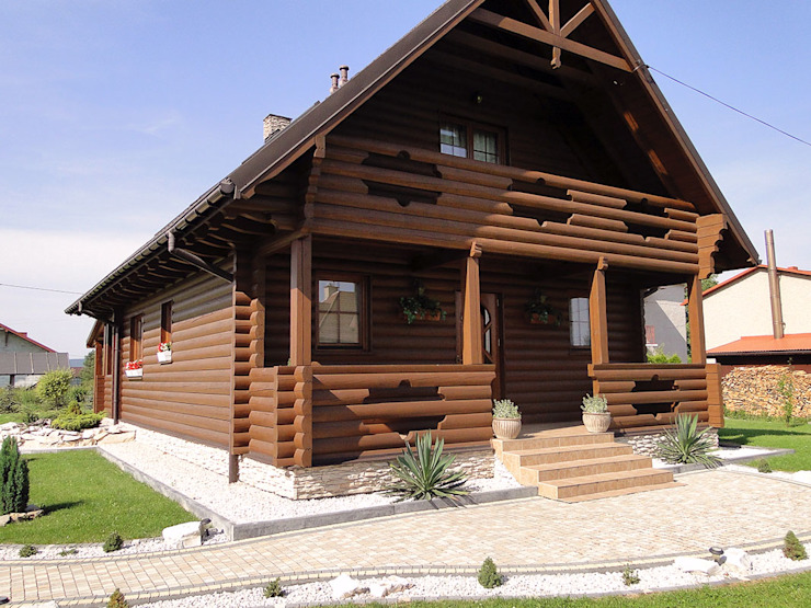 Country style houses by Biuro Projektów MTM Styl - domywstylu.pl Country