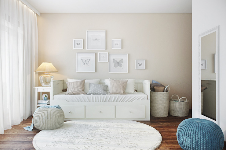 Camera da letto in stile  di DZINE & CO, Arquitectura e Design de Interiores