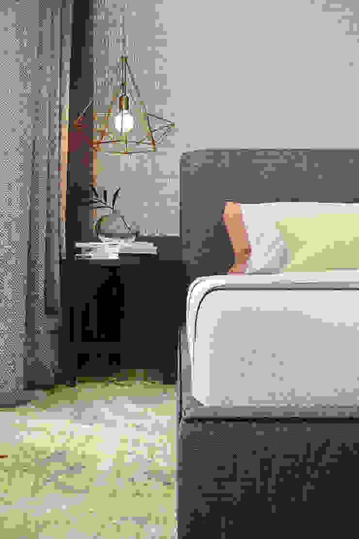 QUARTO STANDARD Hotéis modernos por DZINE & CO, Arquitectura e Design de Interiores Moderno
