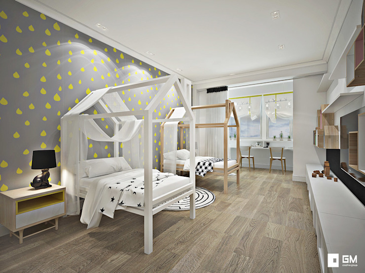 Квартира в скандинавском стиле Детская комнатa в скандинавском стиле от GM-interior Скандинавский