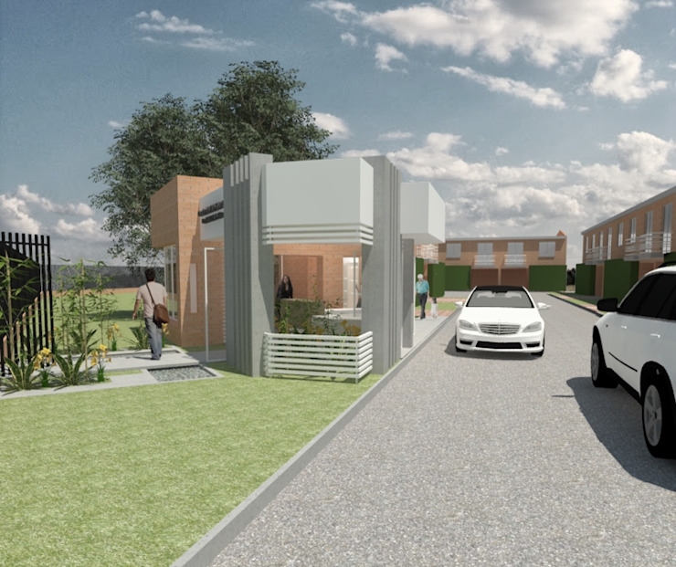 PORTERIA - CONDOMINIO CLUB EL MELAO, CALI Casas modernas de MODOS Arquitectura Moderno