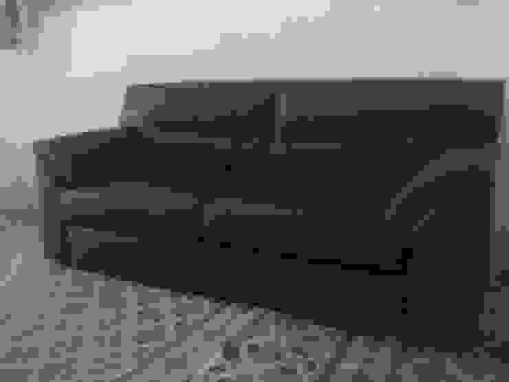 Sofa de 2 PUESTOS MUEBLES DOXA HogarArtículos del hogar Sintético Negro