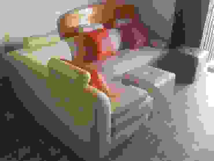 sofa lineal moderno de MUEBLES DOXA Moderno Sintético Marrón