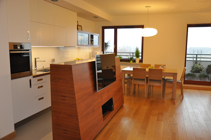 Mieszkanie na Służewcu: styl , w kategorii Jadalnia zaprojektowany przez BFArchitekt,Nowoczesny