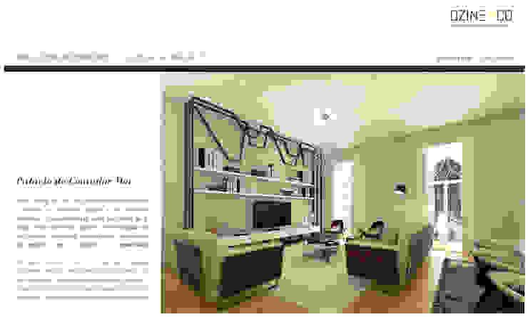 Palácio do Contador Mor Salas de estar modernas por DZINE & CO, Arquitectura e Design de Interiores Moderno