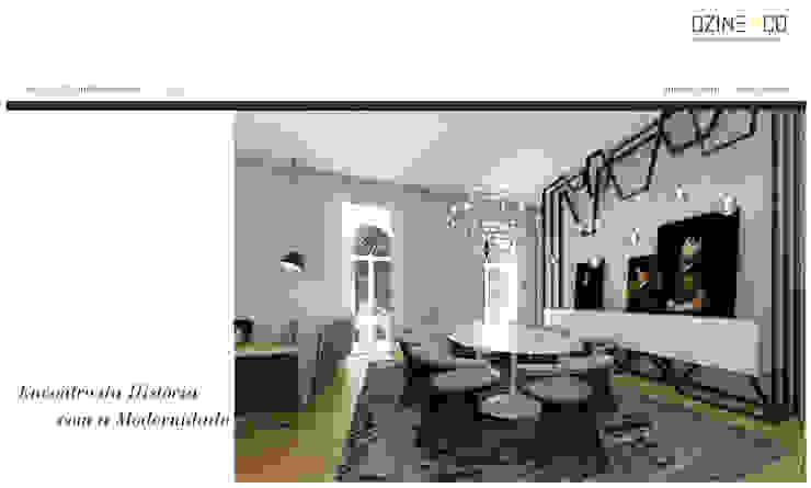 Palácio do Contador Mor Salas de jantar modernas por DZINE & CO, Arquitectura e Design de Interiores Moderno