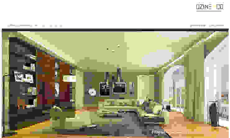 The Spirit of Light Salas de estar modernas por DZINE & CO, Arquitectura e Design de Interiores Moderno