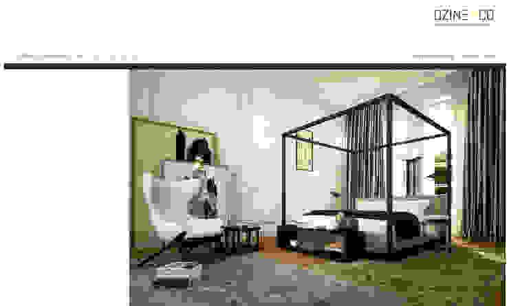 The Spirit of Light Quartos modernos por DZINE & CO, Arquitectura e Design de Interiores Moderno