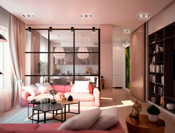 Ruang Keluarga Modern Oleh tatarintsevadesign Modern