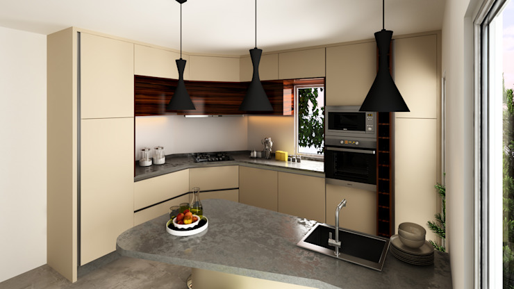 Cozinha Lausanne Cozinhas minimalistas por Mdimension Minimalista