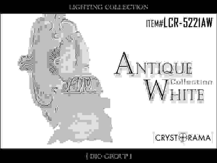 アンティークホワイト1灯ブラケット照明: 株式会社ディオが手掛けたクラシックです。,クラシック