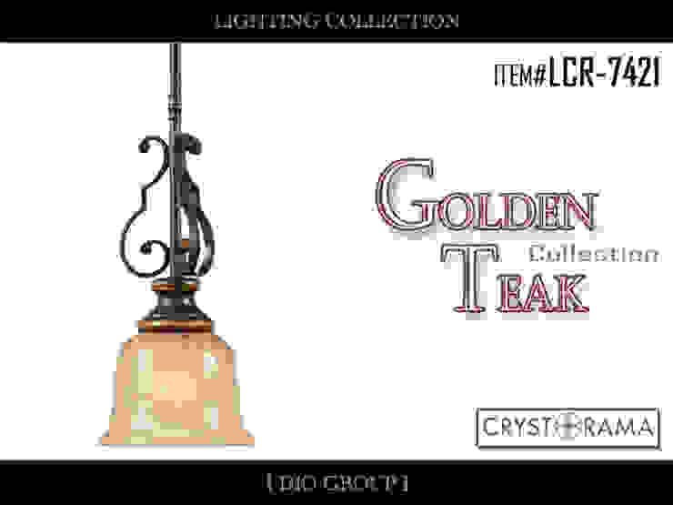 ゴールデンチーク1灯ミニペンダントライト: 株式会社ディオが手掛けたクラシックです。,クラシック