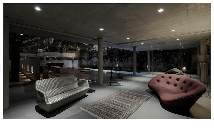FROM ART LOUNGE Minimalist houses by DDIR architecture studio Minimalist