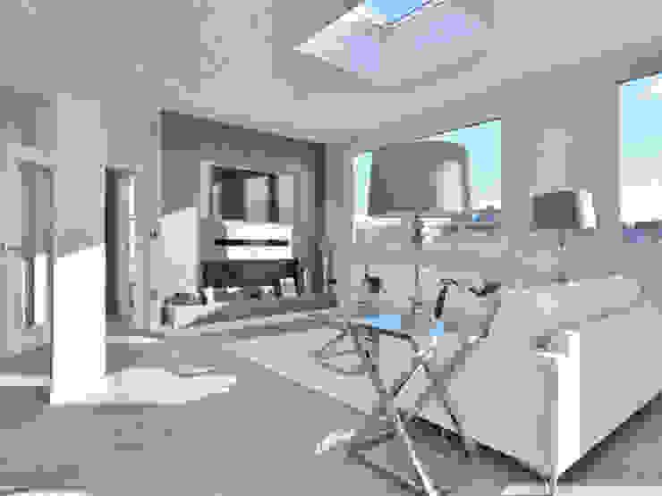 Camden Penthouse Livings de estilo moderno de Boutique Modern Ltd Moderno