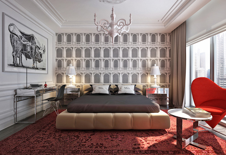 Eclectic style bedroom by KAPRANDESIGN Eclectic