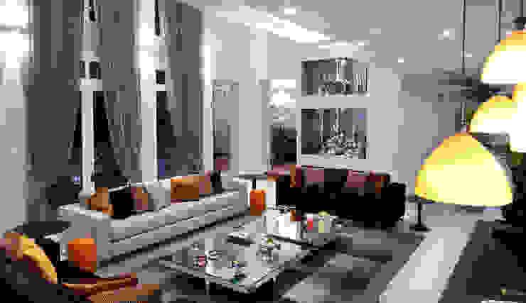 现代客厅設計點子、靈感 & 圖片 根據 Studio 262 - arquitetura interiores paisagismo 現代風