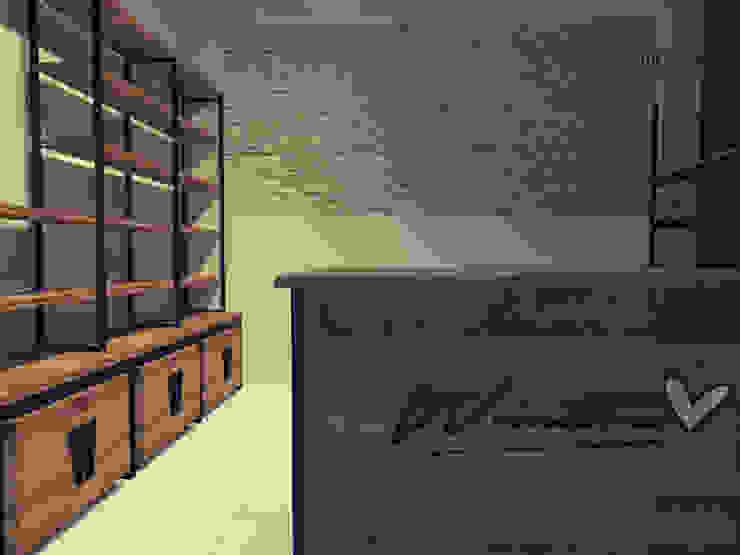 Taller y showroom Wanabe en Casa Estudios y despachos de estilo industrial de Estudio BDesign Industrial Madera maciza Multicolor