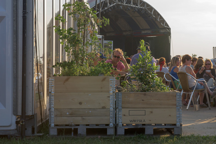Kas Restaurant Industriële tuinen van Studio Made By Industrieel Hout Hout