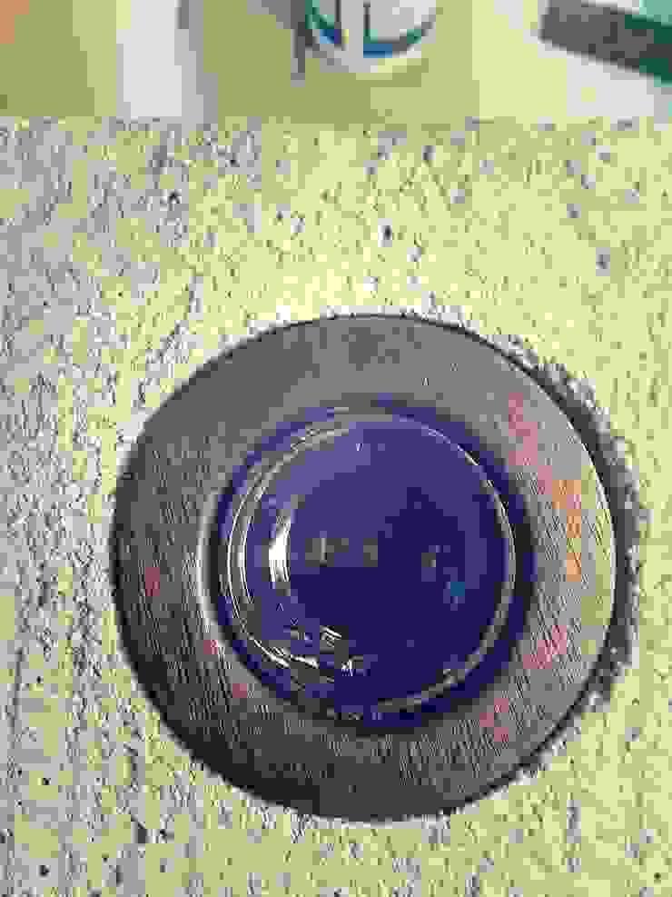 """Candeeiro """" i """"  em cimento e madeira. :  industrial por Pode Ser!,Industrial Pedra"""
