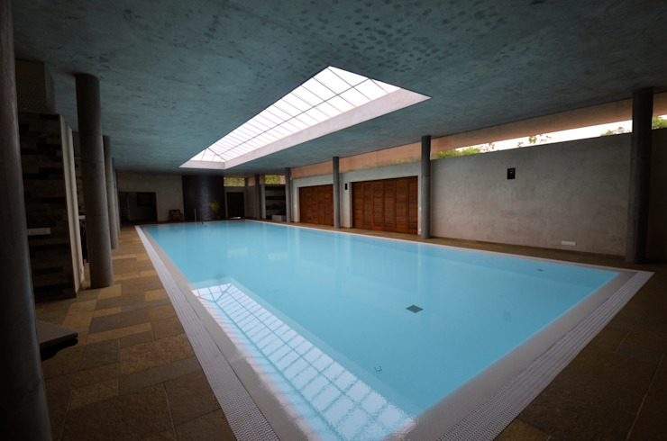 The Inside Pool C&M Architects Modern pool