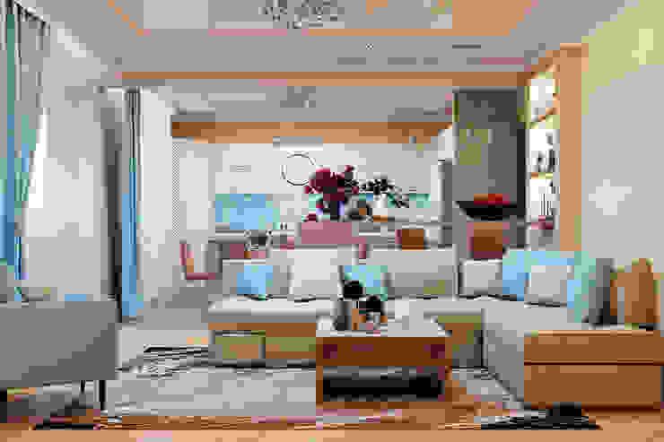 Salones de estilo mediterráneo de Студия дизайна Interior Design IDEAS Mediterráneo