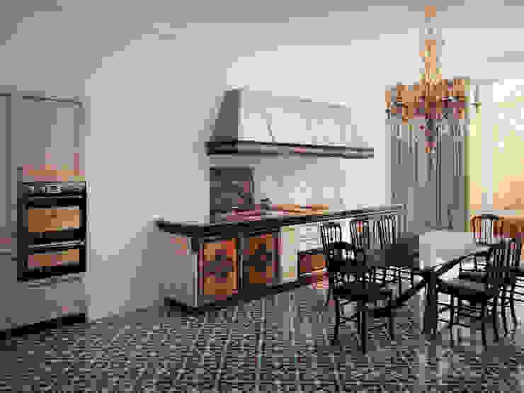 Квартира в Москве 152 кв. м. Кухни в эклектичном стиле от MM-STUDIO Эклектичный