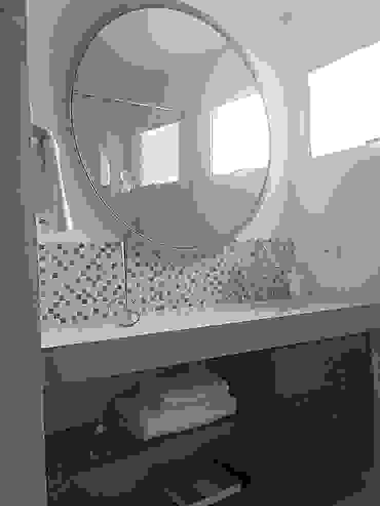ea interiorismo Salle de bain originale Marbre Beige