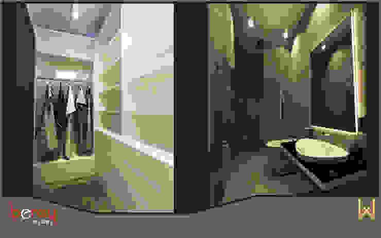 Vestiyer ve Ebeveyn Banyo Modern Koridor, Hol & Merdivenler W DESIGN İÇ MİMARLIK Modern Seramik