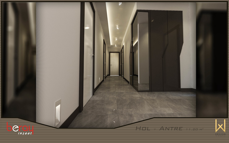 Koridor Modern Koridor, Hol & Merdivenler W DESIGN İÇ MİMARLIK Modern Seramik