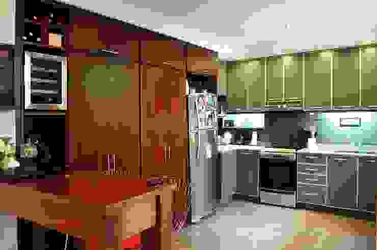 Guardado Cocinas de estilo minimalista de Radrizzani Rioja Arquitectos Minimalista Madera Acabado en madera