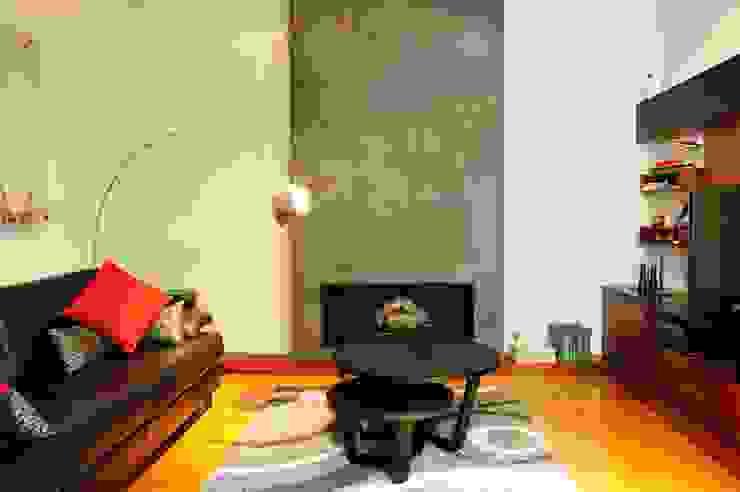 Sala de estar - interiores Minimalistische Wohnzimmer von Radrizzani Rioja Arquitectos Minimalistisch Beton