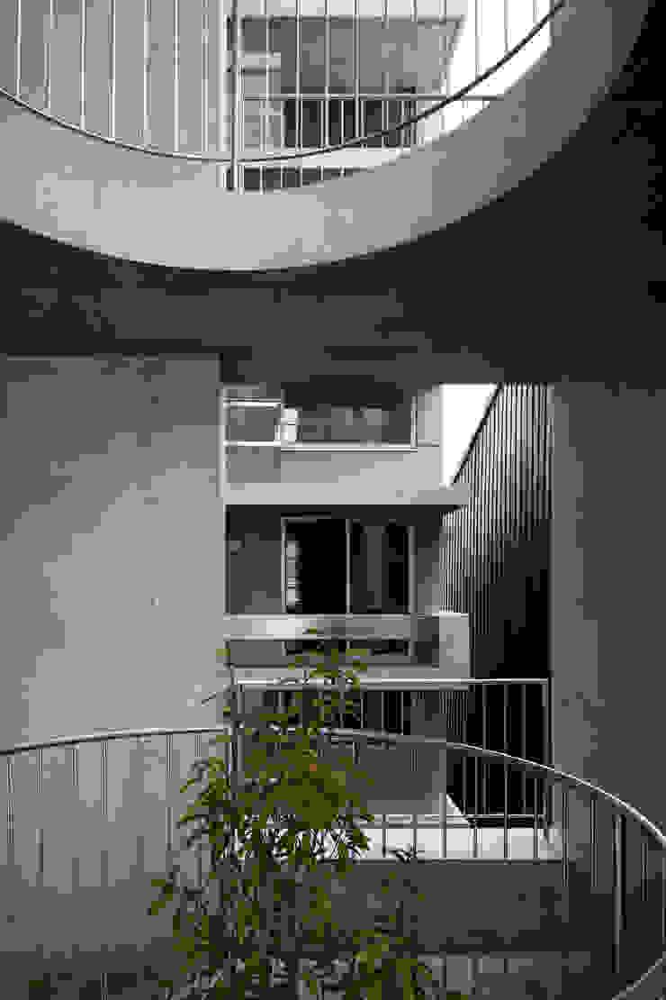 Casa Verde 御所西 株式会社 藤本高志建築設計事務所 モダンな庭 コンクリート 灰色