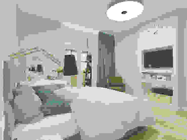 Визуализация: квартира в Петербурге : Спальни в . Автор – OK Interior Design,