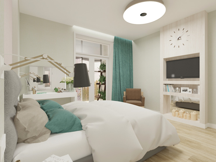 Визуализация: квартира в Петербурге Спальня в стиле модерн от OK Interior Design Модерн