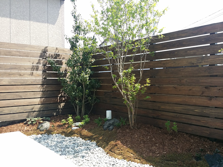 Jardines de estilo moderno de 株式会社 砂土居造園/SUNADOI LANDSCAPE Moderno Piedra