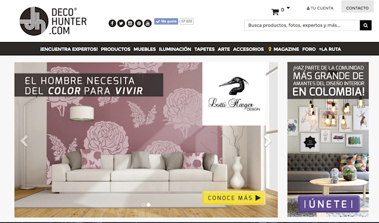 Decohunter.com Decohunter.com Salas de estilo ecléctico Gris