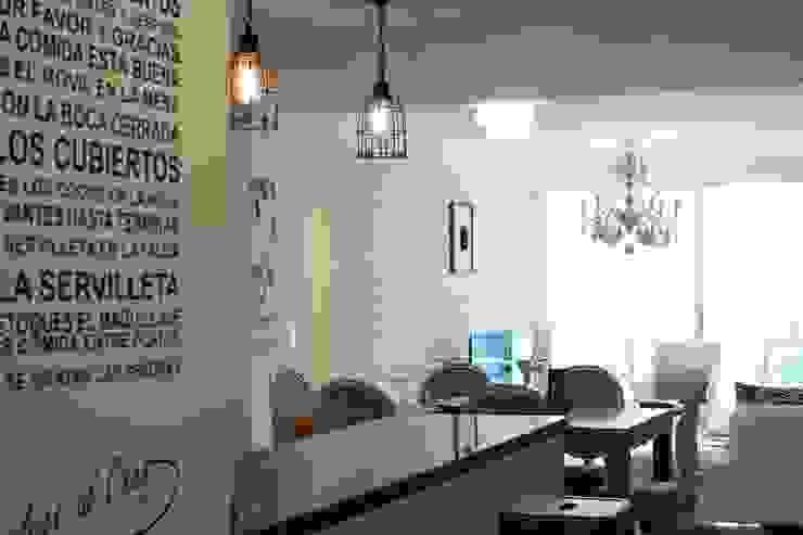 Коридор, прихожая и лестница в эклектичном стиле от Diseñadora Lucia Casanova Эклектичный